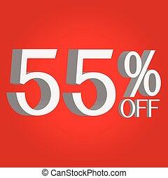 3D sale off text
