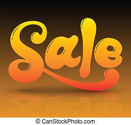 3D Sale text.