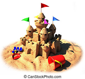 3d sand castle