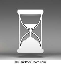 3d Sand watch icon