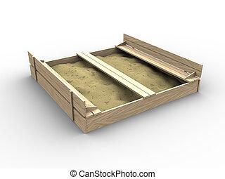 3d sandbox - 3d image of a sandbox.