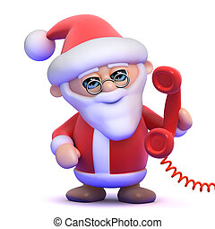 3d Santa answers the phone
