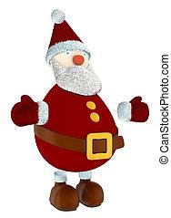 3D Santa Claus standing