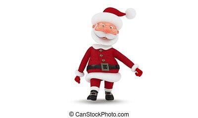 3d Santa Claus walks - Christmas walk to the North Pole