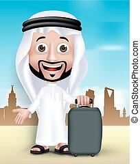 3D Saudi Arab Man Character - Realistic 3D Handsome Saudi...