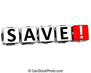 3D Save Crossword