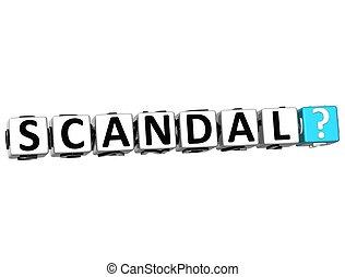 3D Scandal Crossword