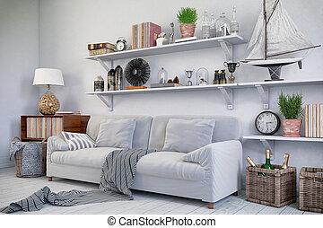 3d - scandinavian flat