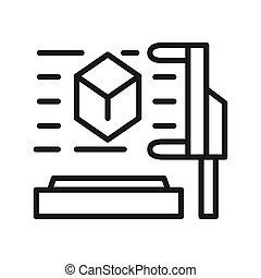3d scanner illustration design
