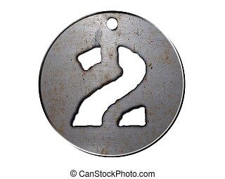 3d, scheibe, metall, nr. zwei