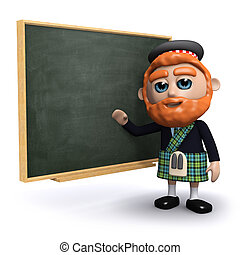 3d Scotsman teaches at the blackboard