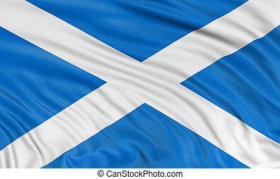 3D Scottish flag