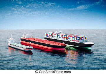 3d sea transport, global commerce