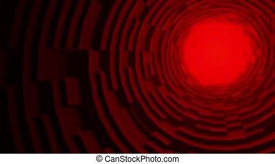 3d, seamles, bâtiment, circulaire, rouges, cercles, modèle ...
