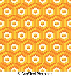 3d seamless abstract with hexagonal elements.