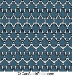 3d, seamless, patrón, en, islámico, estilo