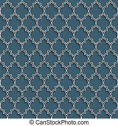 3d seamless pattern in islamic style. Vector background