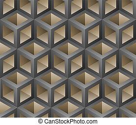 3d seamless pattern vector