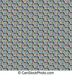 3d Seamless Web Hexagon Pattern