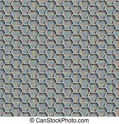3d Seamless Web Hexagon Pattern