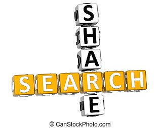 3D Search Share Crossword