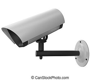 security camera - 3d security camera. White background.