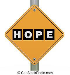 3d, segno strada, speranza
