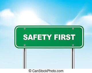 3d, seguridad primero, muestra del camino