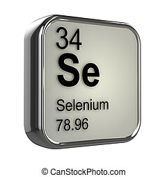 3d Selenium element - 3d render of Selenium element design