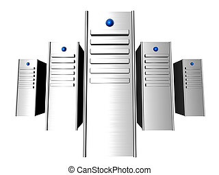 3D Servers - 3D rendered Server towers.