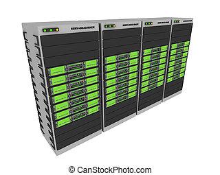 3d, servers-green, #2
