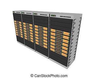 3d Servers-Orange #4