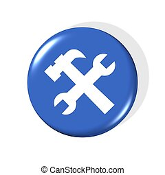 service icon - 3d service icon - computer generated