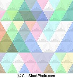 3d, sfondo colorato, da, piramidi
