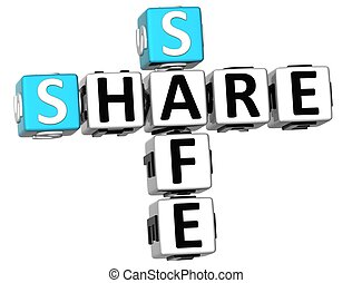 3D Share Safe Crossword