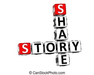 3D Share Story Crossword