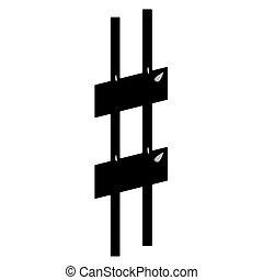 3D Sharp Symbol - 3d Sharp Symbol isolated in white