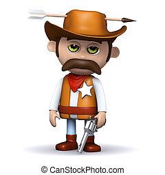 3d Sheriff hit by an arrow