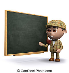 3d Sherlock blackboard