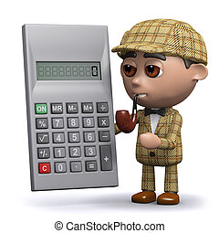 3d Sherlock calculates