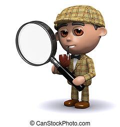 3d Sherlock magnifies