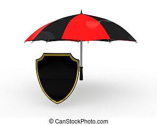 3d shield under umbrella