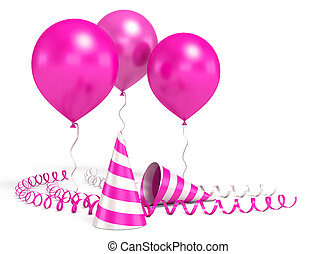 3d shiny ballons - 3d shiny red ballons on white background