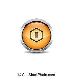 3D Shiny ui circle button style vector icon set design