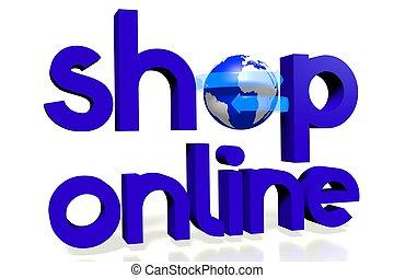 3D shop online / Internet concept