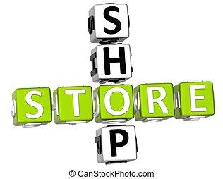 Shop Store Crossword