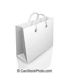 3d Shopping Bag Illustraion Isolated on White Background