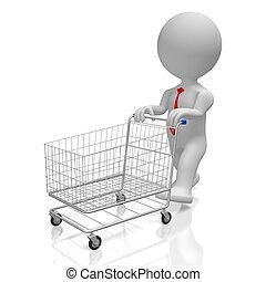 3D shopping cart concept