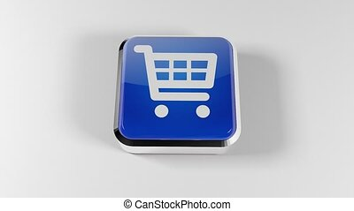 3D shopping cart icon. Shopping Basket Button. 22 - 3D...