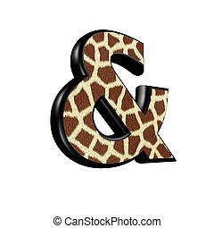 sign with giraffe fur texture